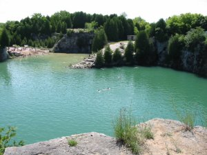 Swimming in the Elora Quarry